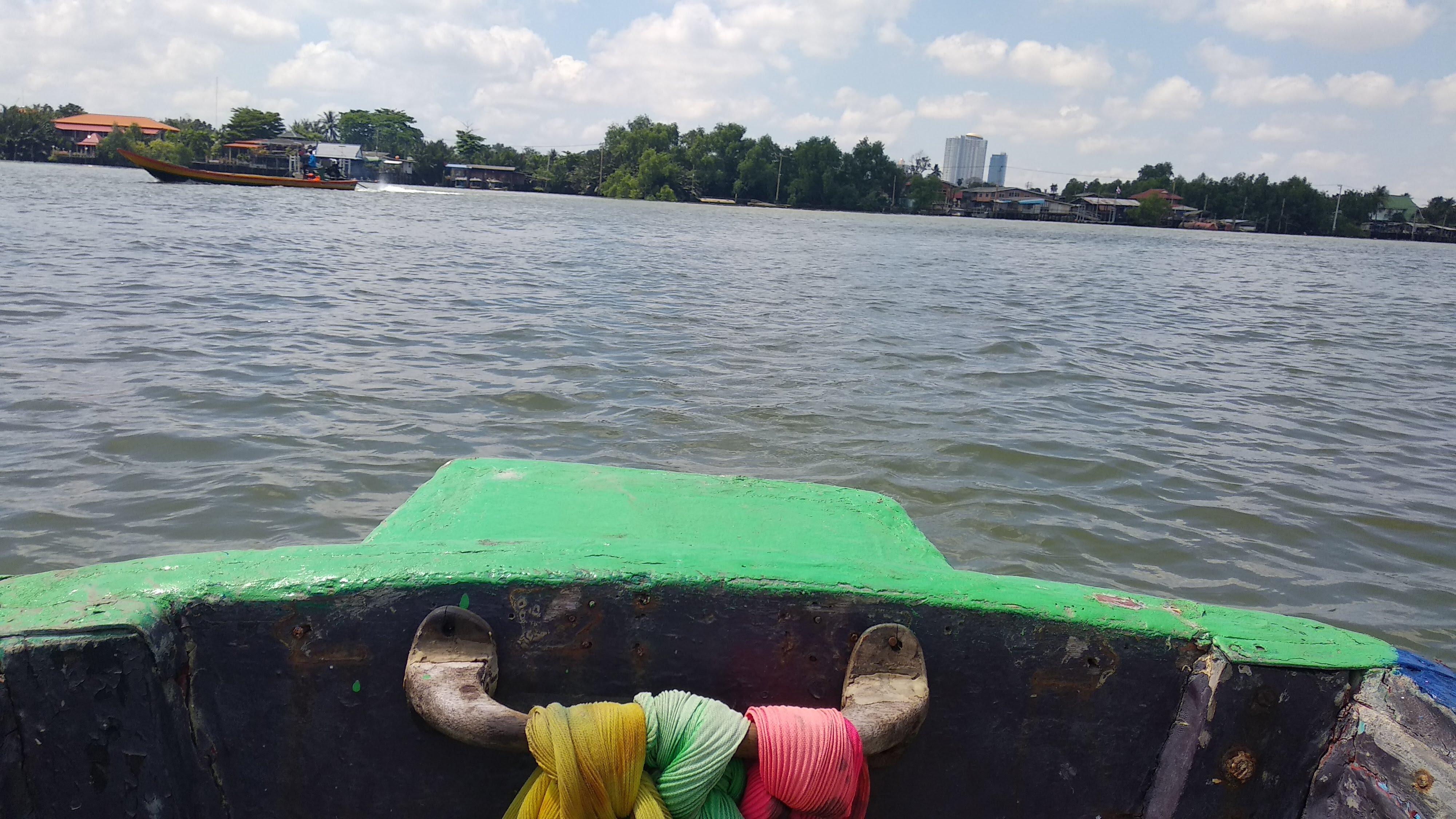 Longtail boat across